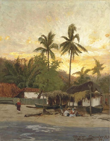View of Acapulco, 1879, oil painting by Carl Saltzmann Carl Saltzmann - View of Acapulco, 1879.jpg