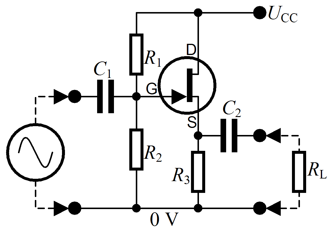 Filecommon Drain Amplifier Wikimedia Commons Mosfet Wiring Diagram