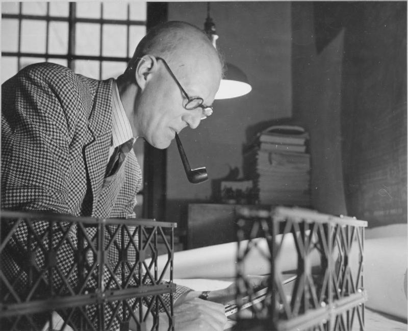 File D C Bailey Designer Of The Bailey Bridge Uk 1944