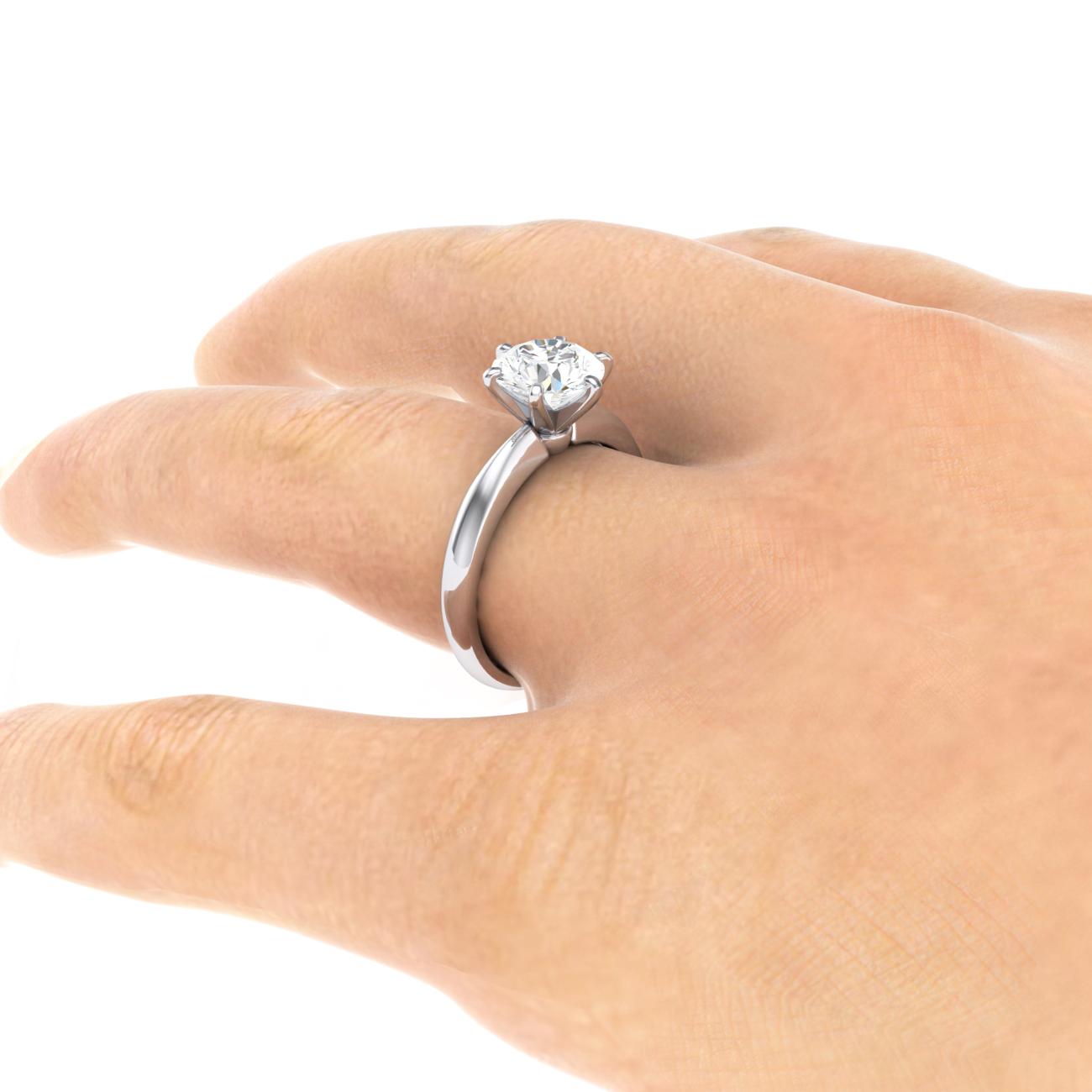 Engagement Ring Size Chart: Diamond engagement ring platinum dr101 handstill6 1300.jpg ,Chart