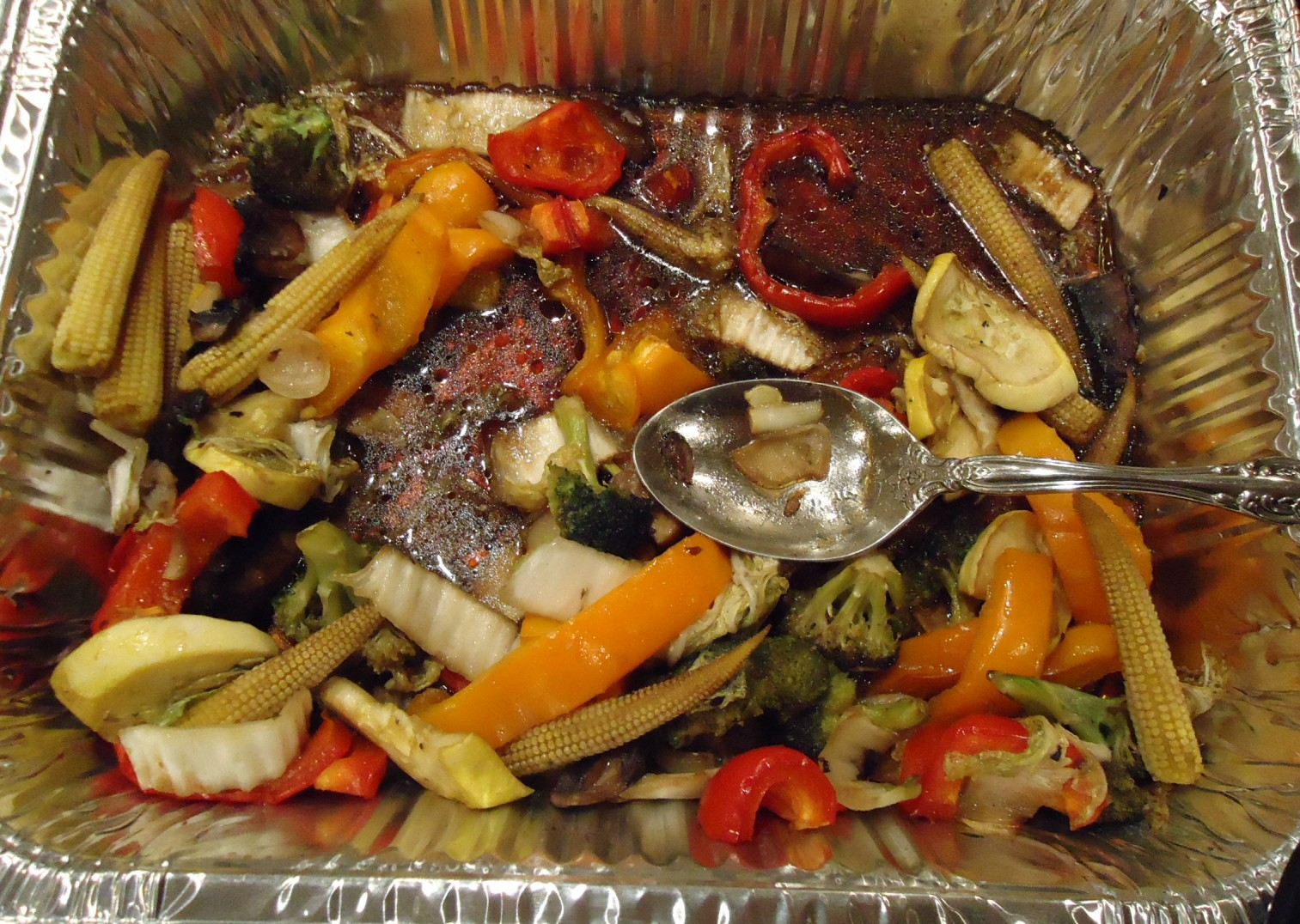 Vegetable Ideas For Dinner Party Part - 34: File:Dinner Vegetable Dish At A Party In A Silver Pan.jpg