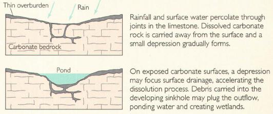 USGS dissolution sinkhole.