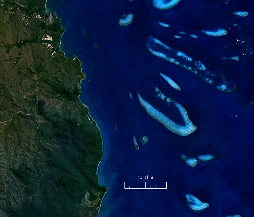 Endeavour reef (satellite image)