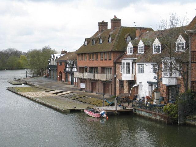 Eton College boathouses from Windsor and Eton Bridge - geograph.org.uk - 753286