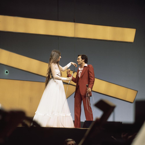 File:Eurovision Song Contest 1976 rehearsals - Italy - Al Bano & Romina Power 4.png