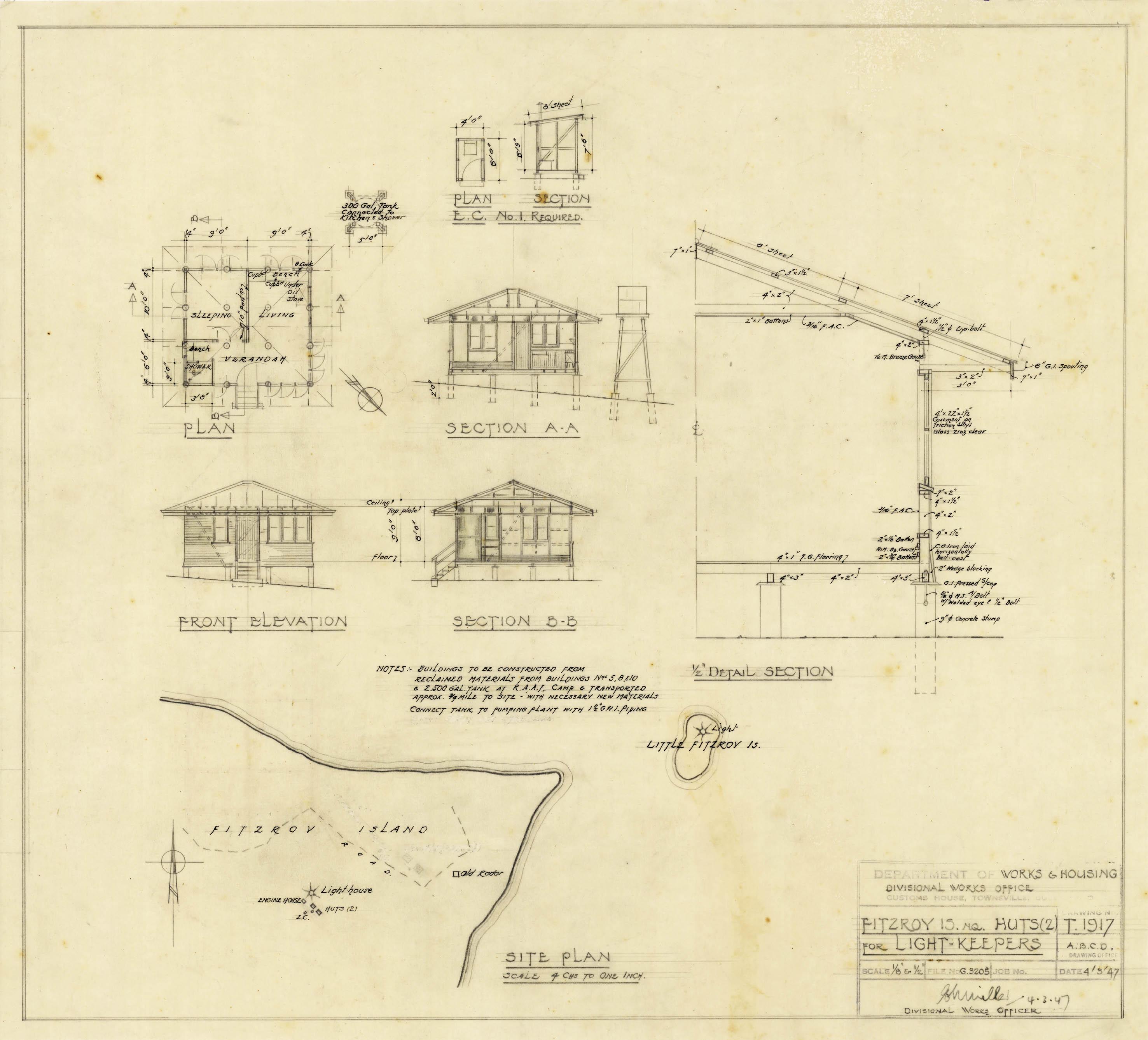 Fitzroy island light for Lighthouse blueprints plans