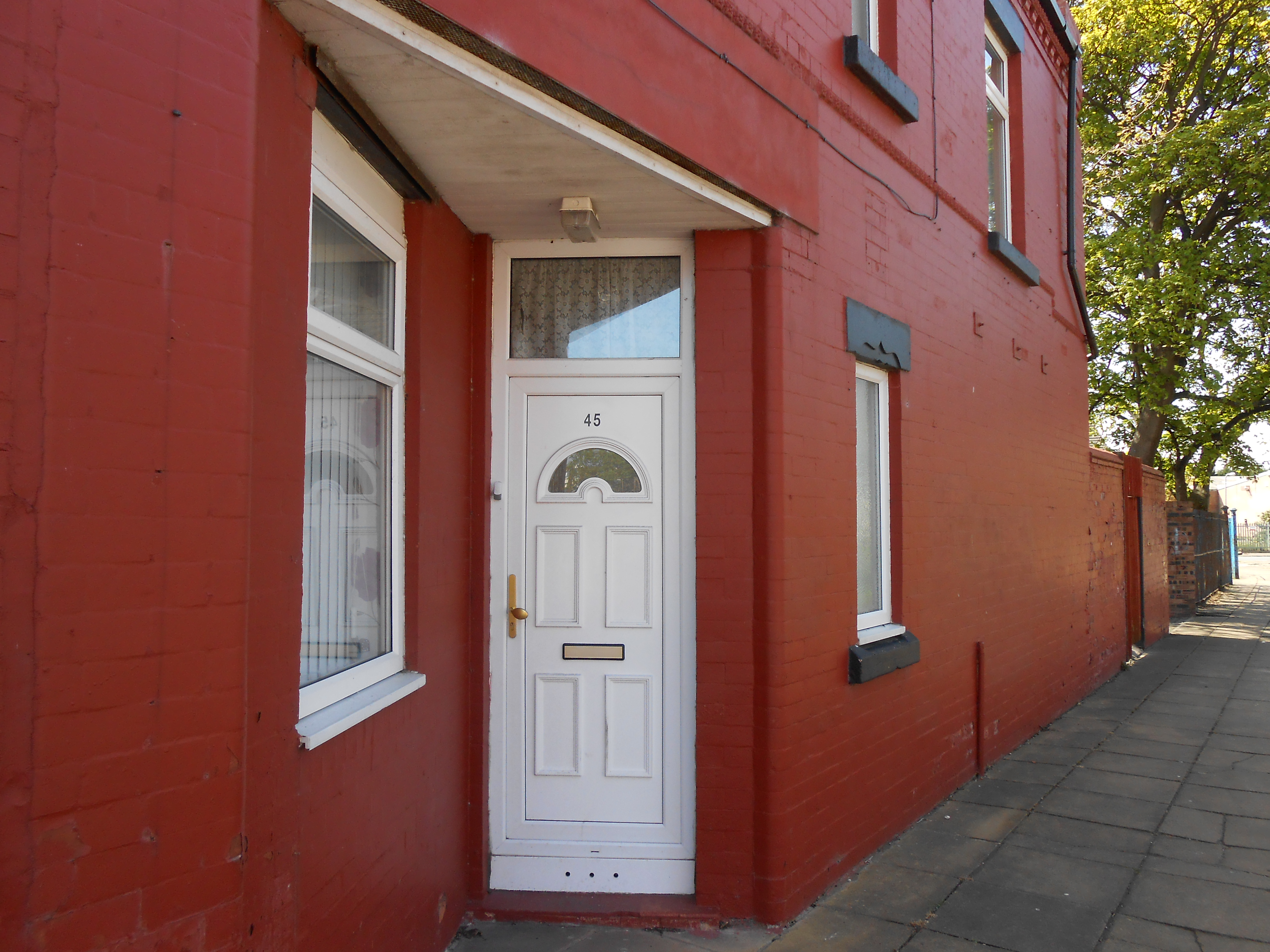 Front door in side of house, Seacombe.JPG