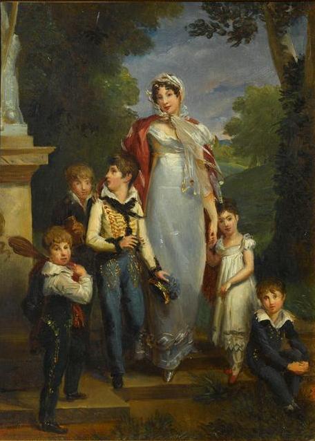 1818 portrait of women with children