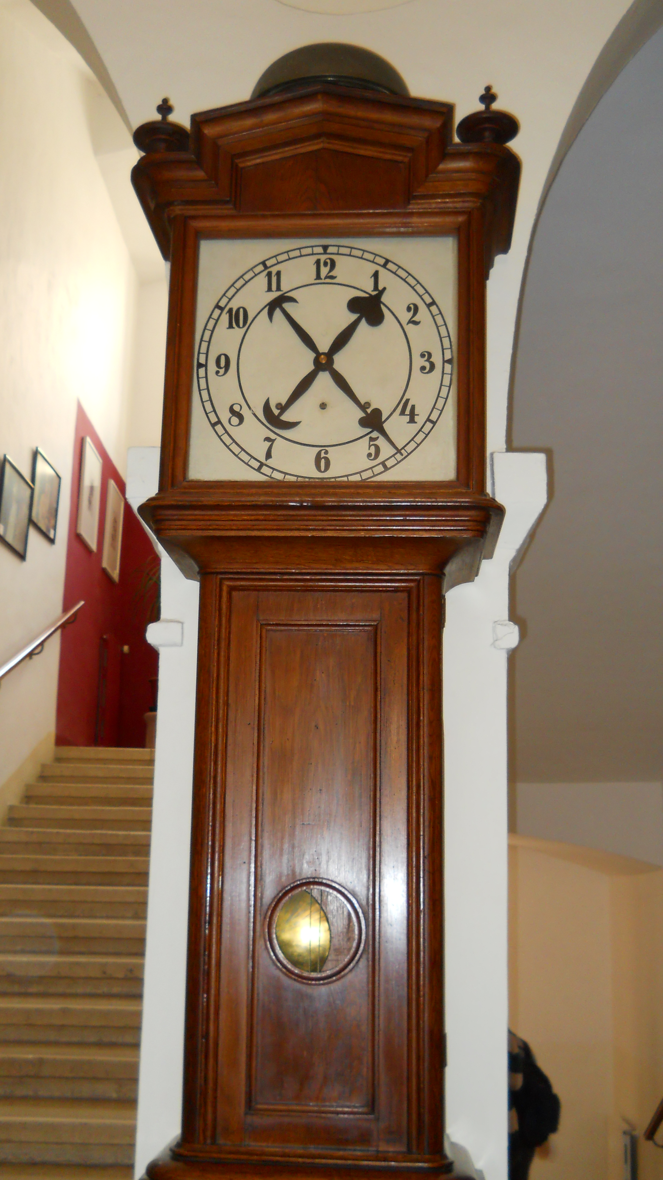 8-foot Great Grandfather's Clock Ticks Off 100 Years