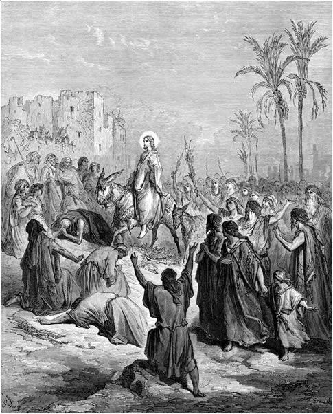 Jesus Enters Jerusalem - Gustave Doré 1832-1883