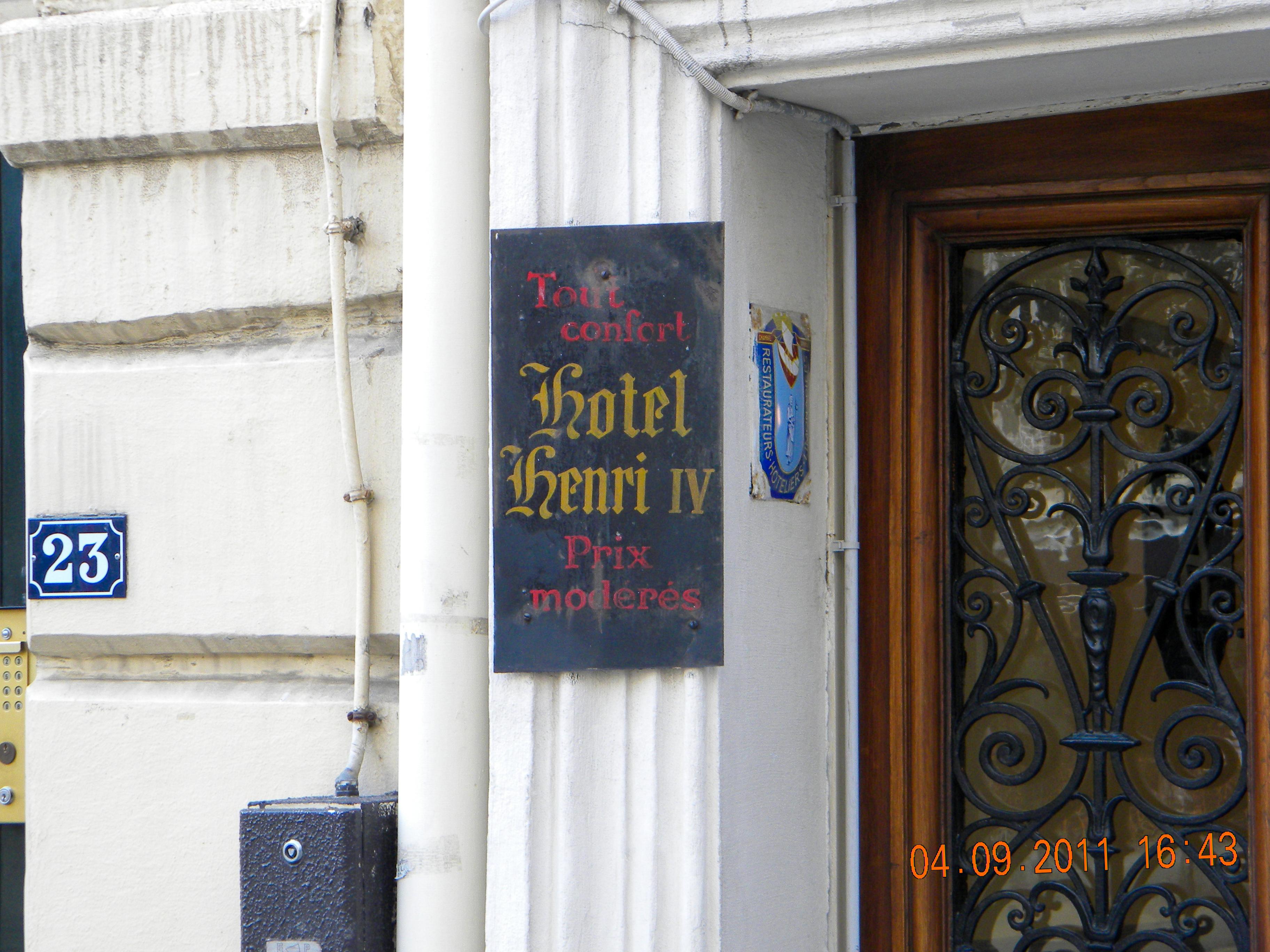 Hotel Henri Iv Place Dauphine Paris