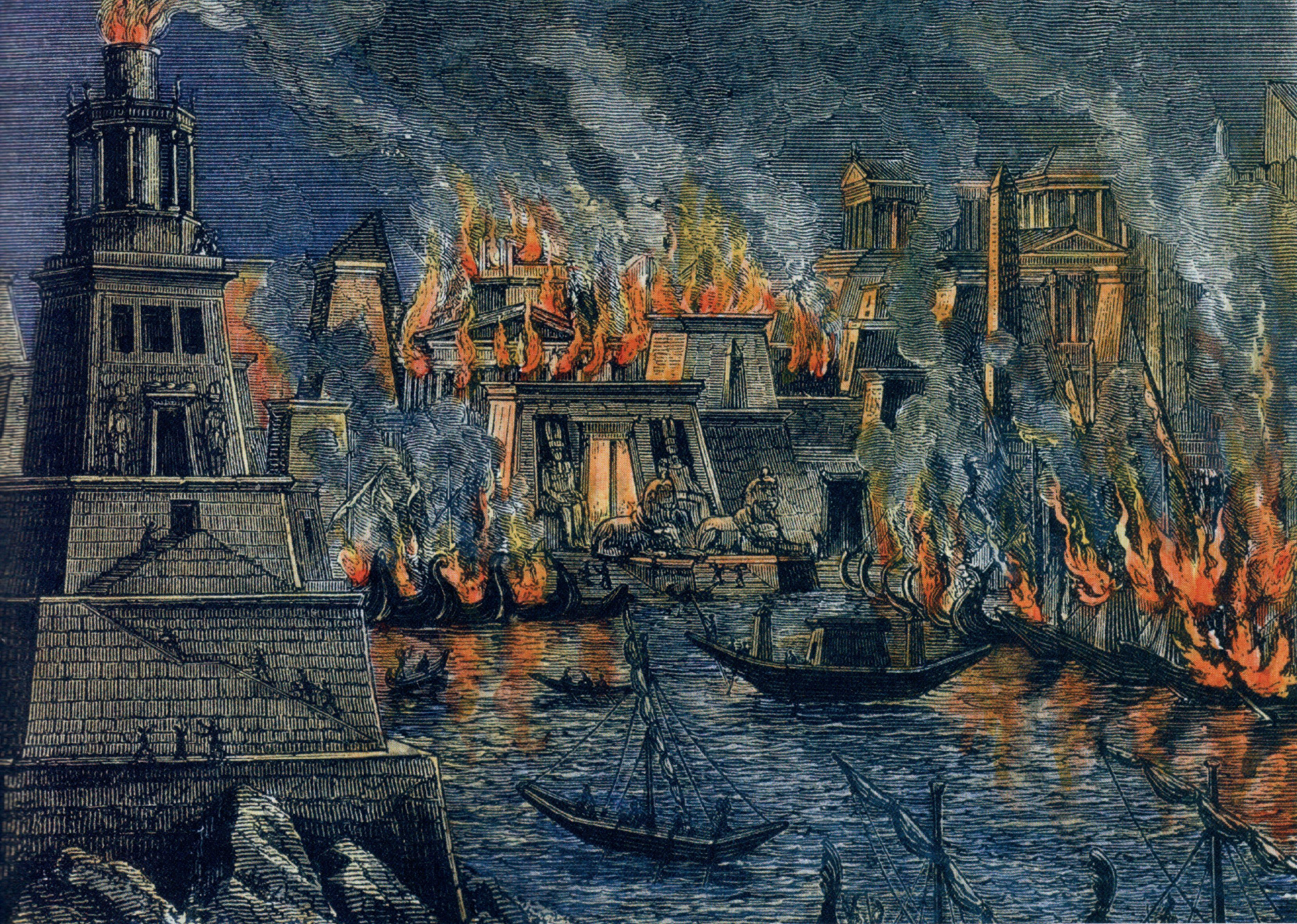 Resultado de imagem para alexandria library burning