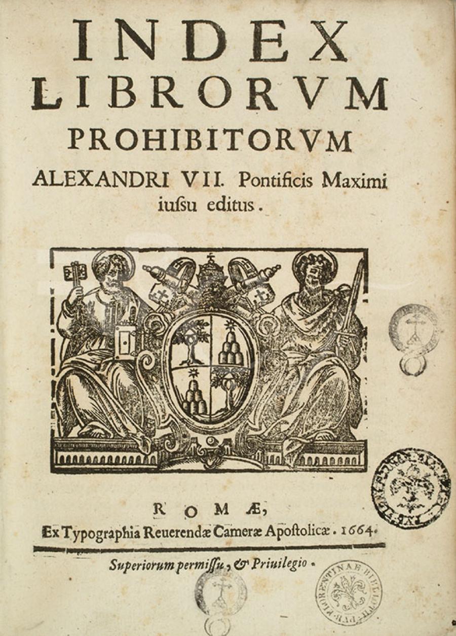 Resultado de imagen de lista de libros prohibidos inquisicion