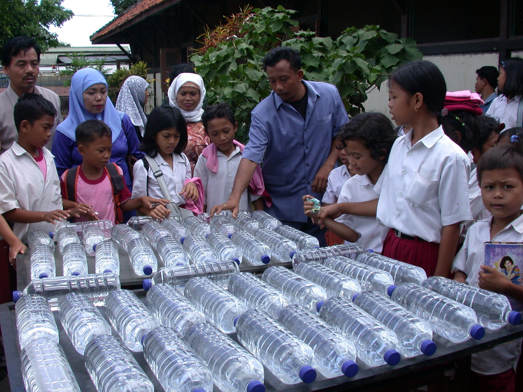 SODIS water disinfection in Indonesia