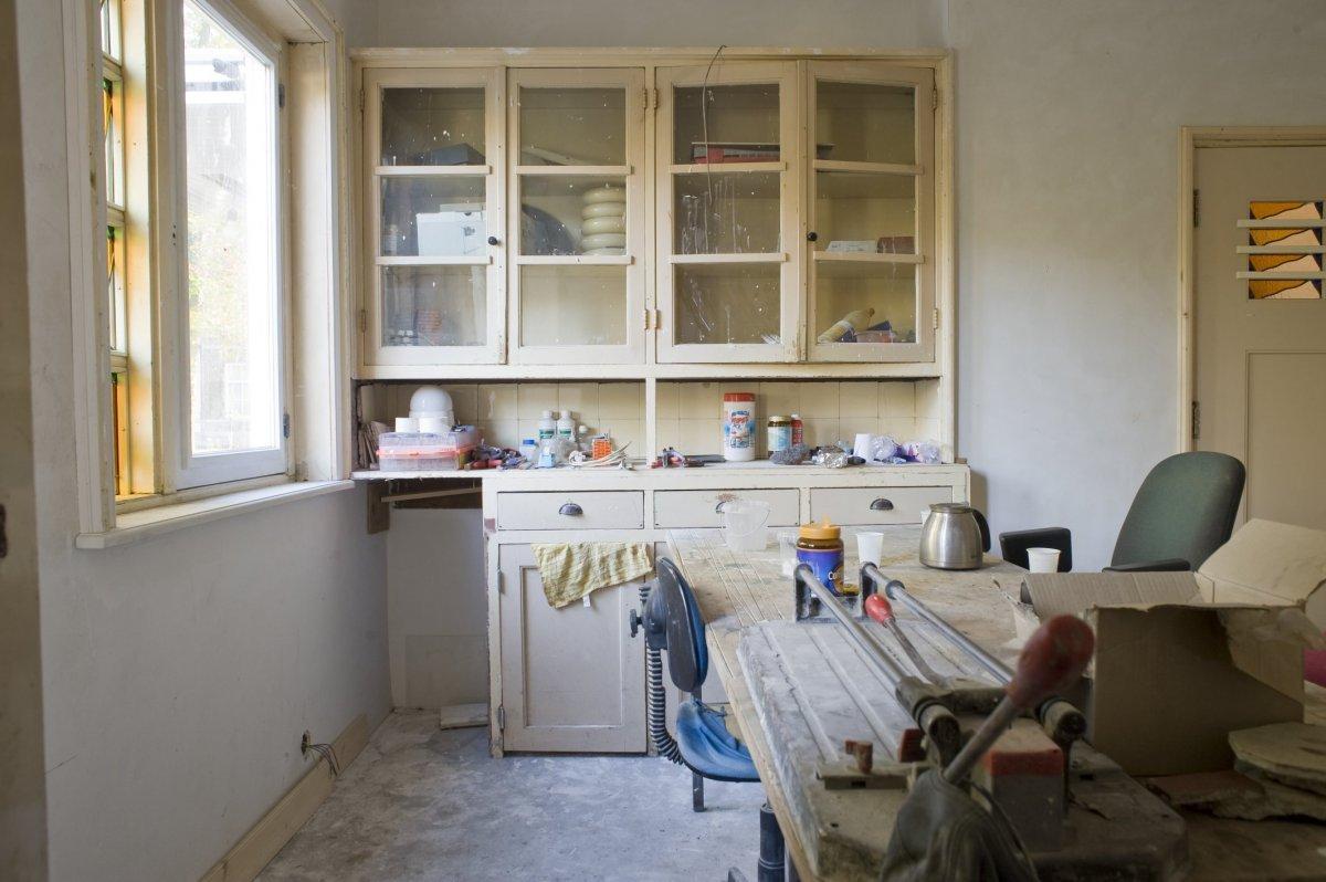 Keuken Design Boxtel : File interieur keuken tijdens verbouwing het aanrechtblad met