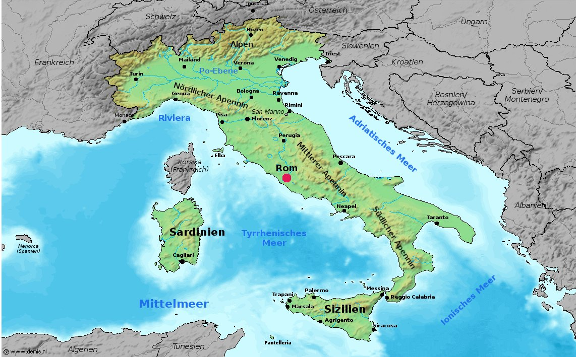 Atlas Of Italy Wikimedia Commons - Physical map of italy