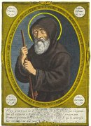 Saint Francis of Paola, painting by Jean Bourdichon, 1507.