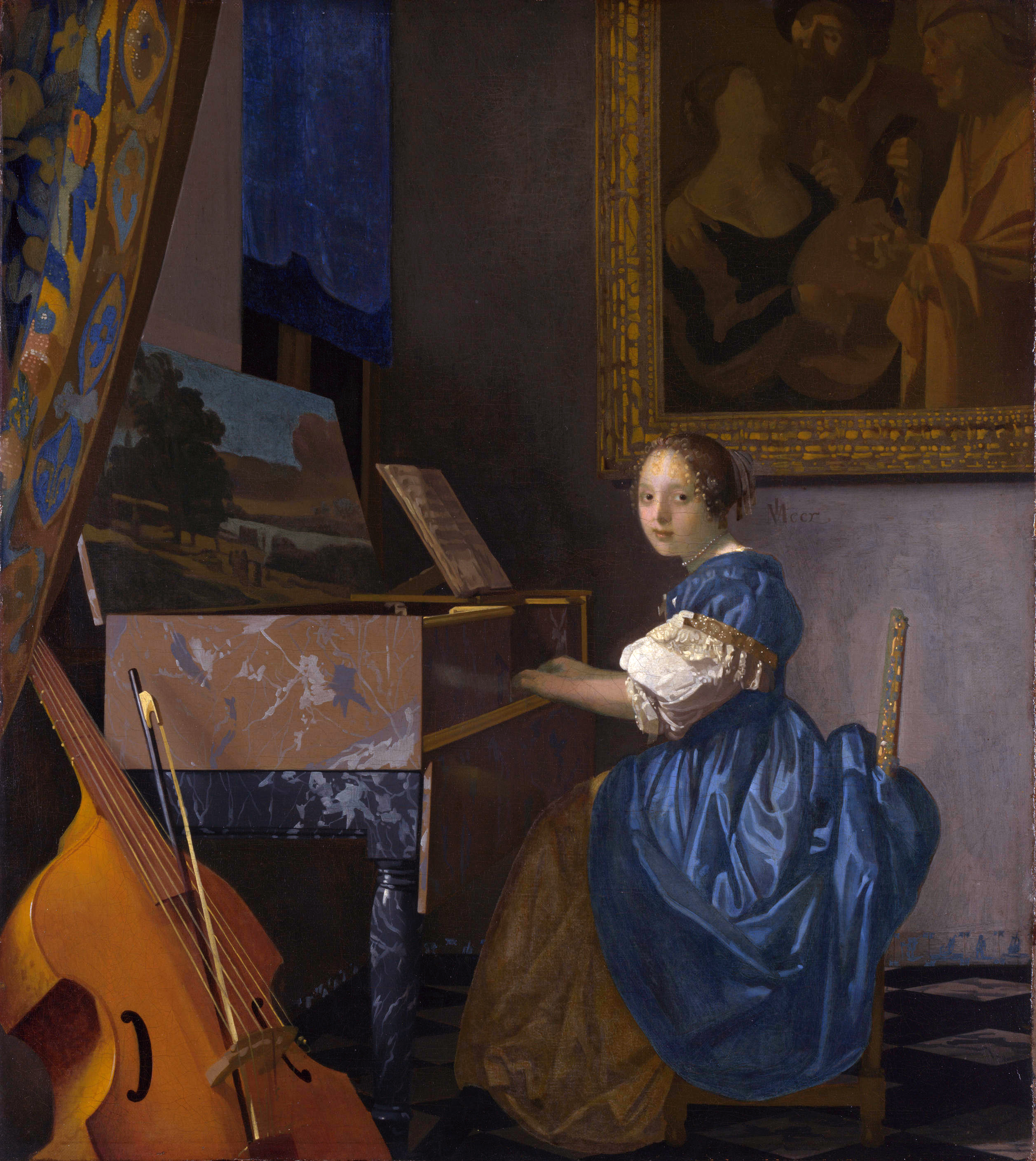 vermeer a lady writing analysis for grade