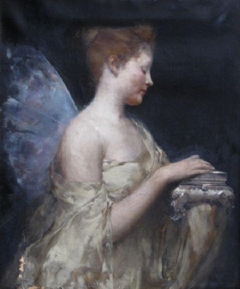 An image of Psyche, Greek goddess of the soul, often depicted with butterfly wings.