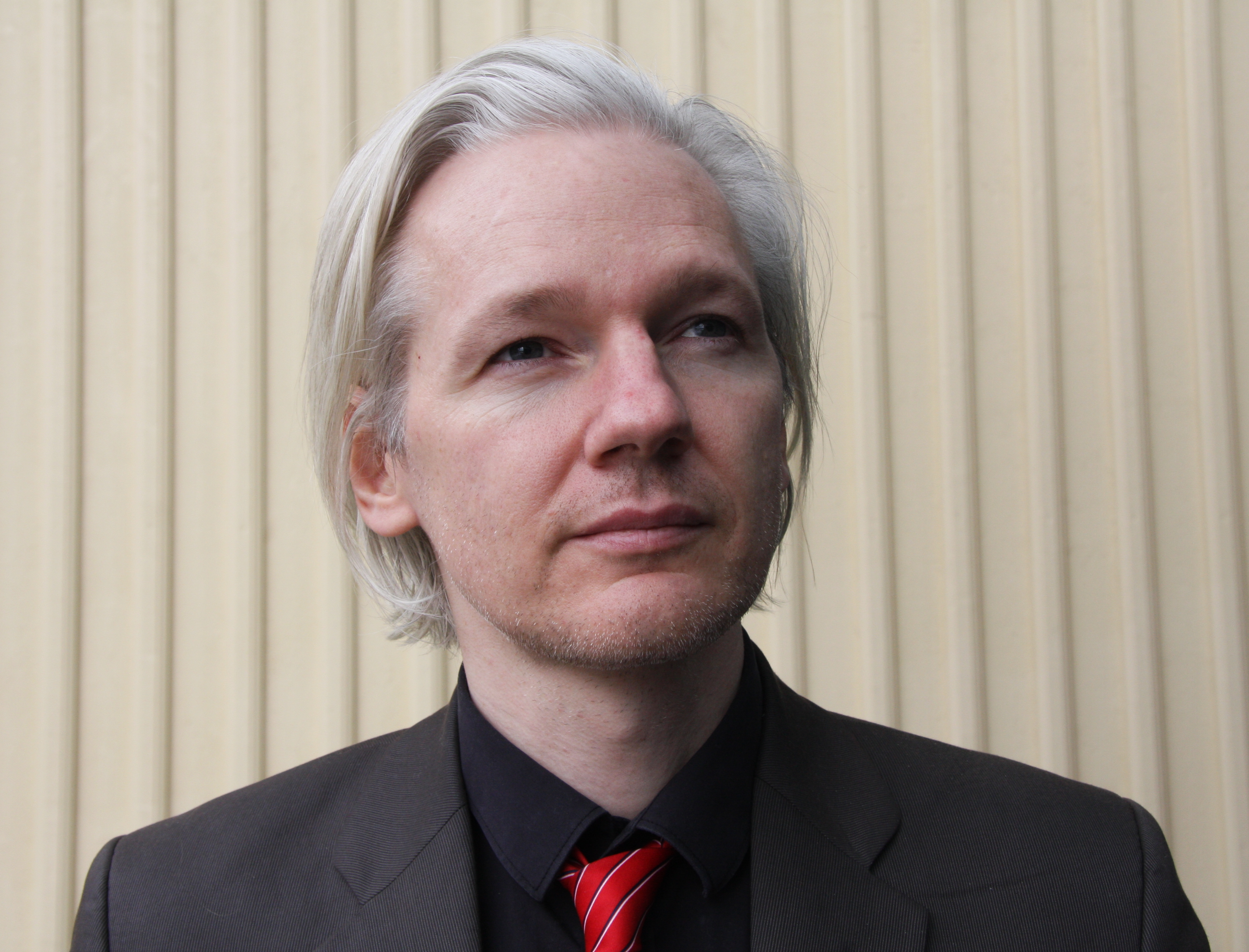 Julian Assange, from Wikileaks, at the SKUP co...
