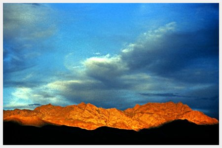 Sunset in the mountains of Kargil