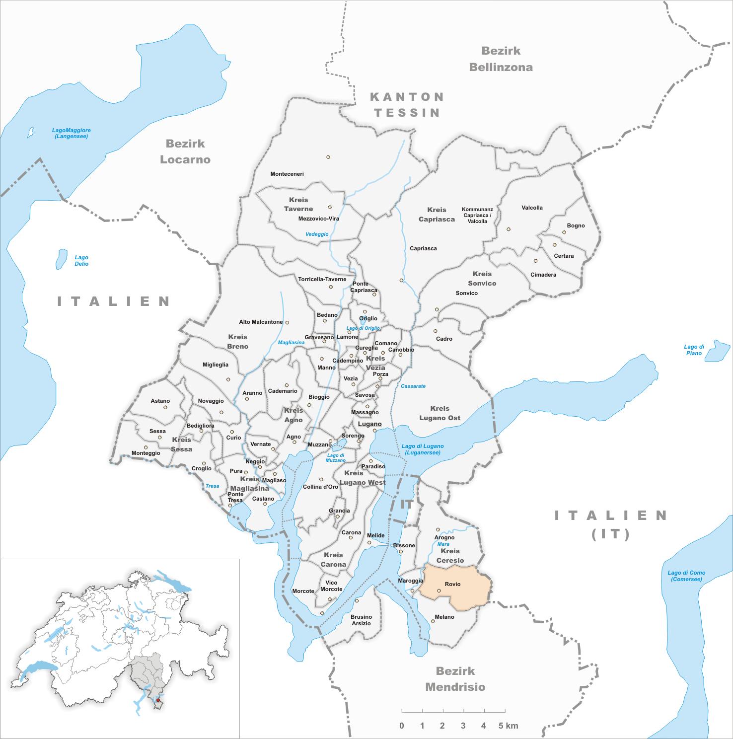 Manno Svizzera Cartina.Rovio Wikiwand