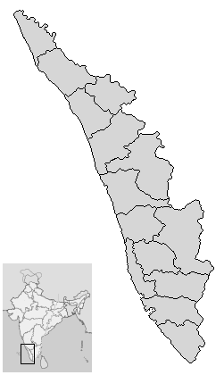 Outline map of Kerala