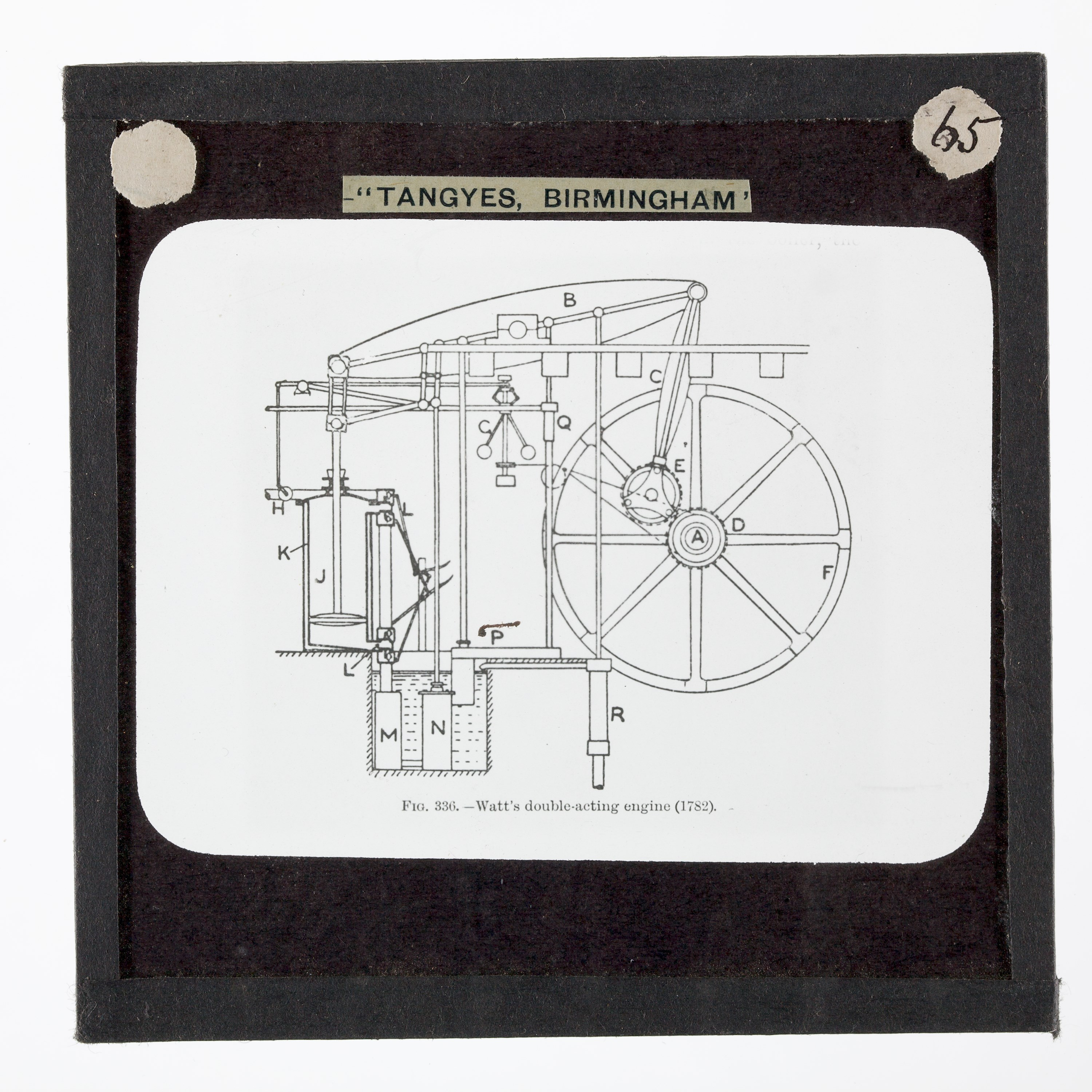 FileLantern Slide CrossSection of Watts Rotative Double – Diagram Of Condensing Steam Engine