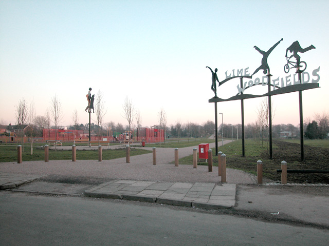 Lime Wood Fields. Recently re-furbished play and recreation area in Newton Chester.