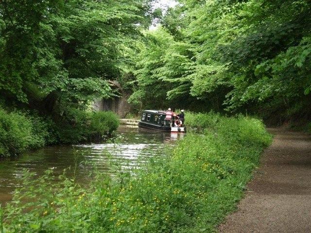 Llangollen Canal, approaching Bridge No. 28 - geograph.org.uk - 586108