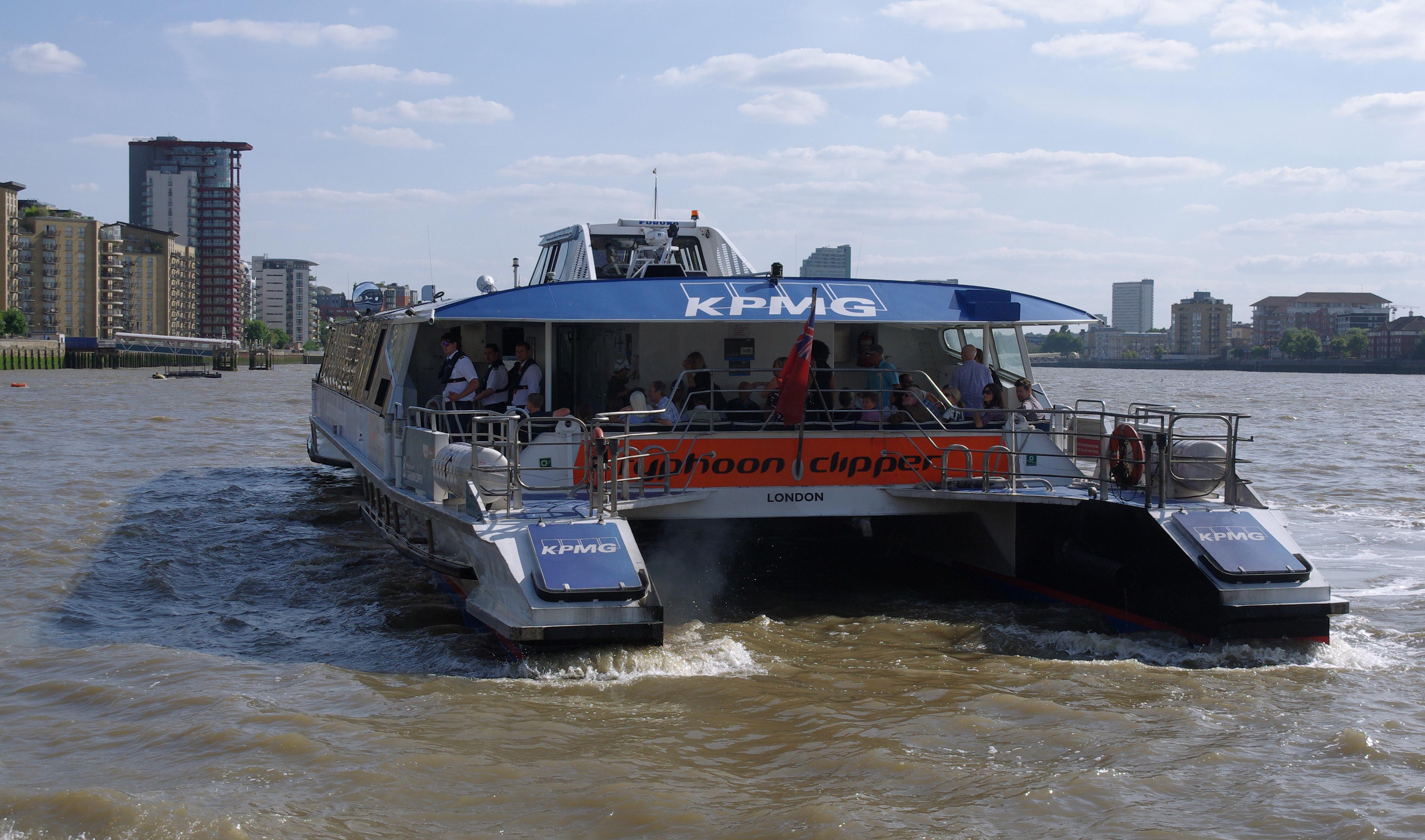 Experience London's River Thames London MMB «P2 River Thames Typhoon Clipper.jpg