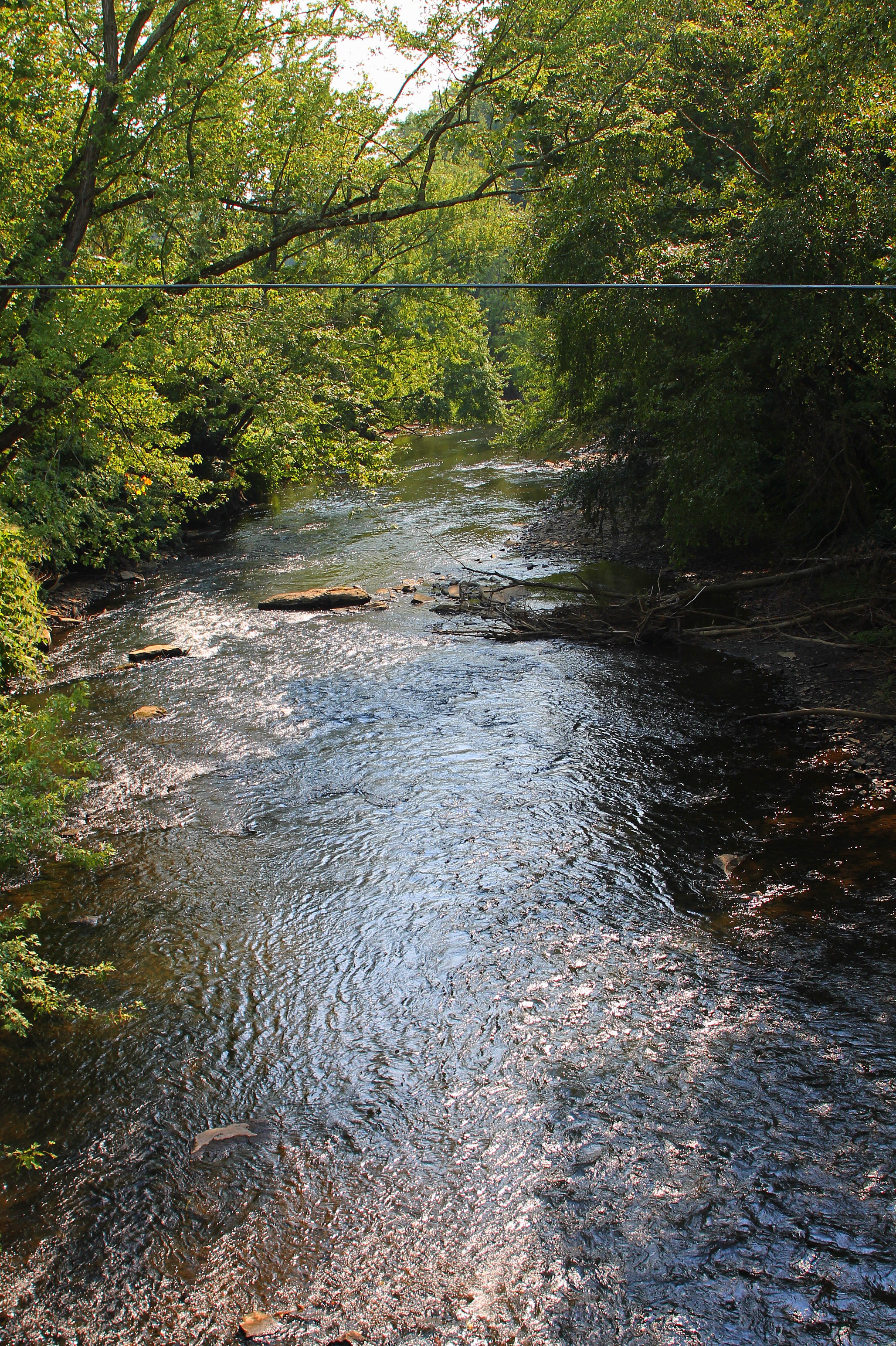 Mahanoy Creek looking downstream, below all its named tributaries
