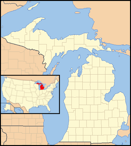 FileMichigan Locator Map With USPNG Wikimedia Commons - Michigan on a us map