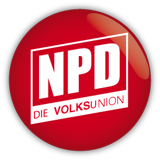 "New Logo of NPD since 2011. The word ""Volks"" (""people"" in German) appears in bold letters."