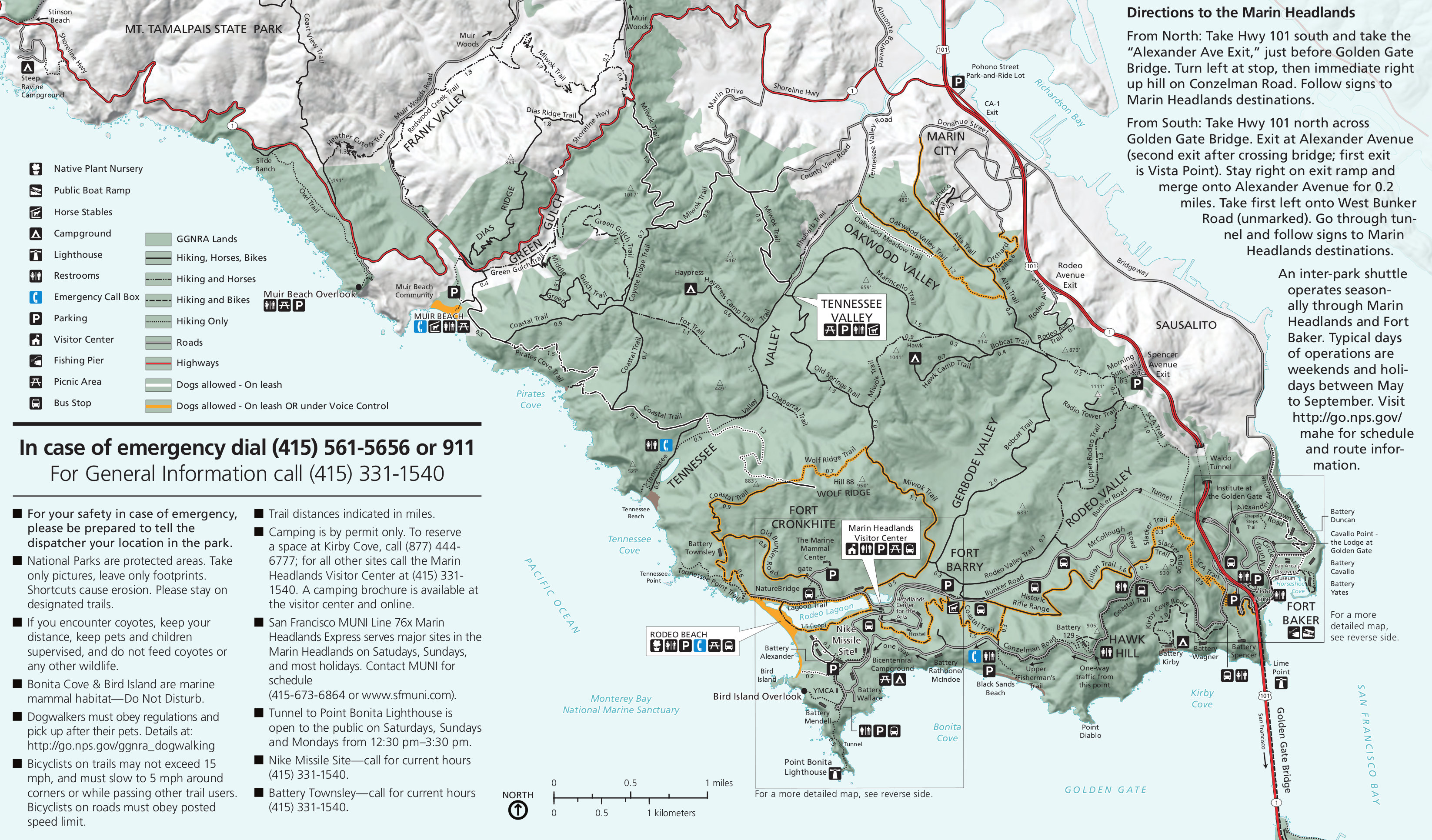 Marin Headlands Map File:NPS marin headlands map.   Wikimedia Commons