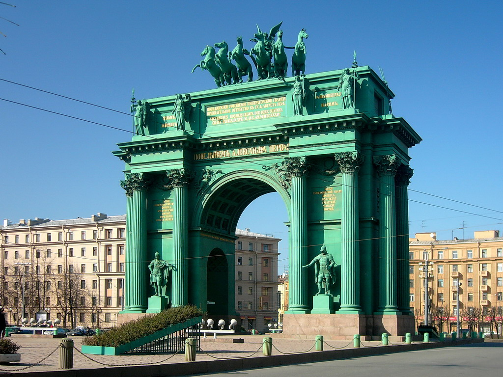 Narva Triumphal Gate in St. Petersburg 4