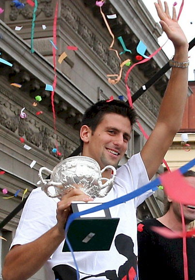 Novak Djokovic, one of the greatest tennis players of all time.