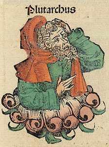 Plutarch in the Nuremberg Chronicle Nuremberg chronicles f 111r 3.png