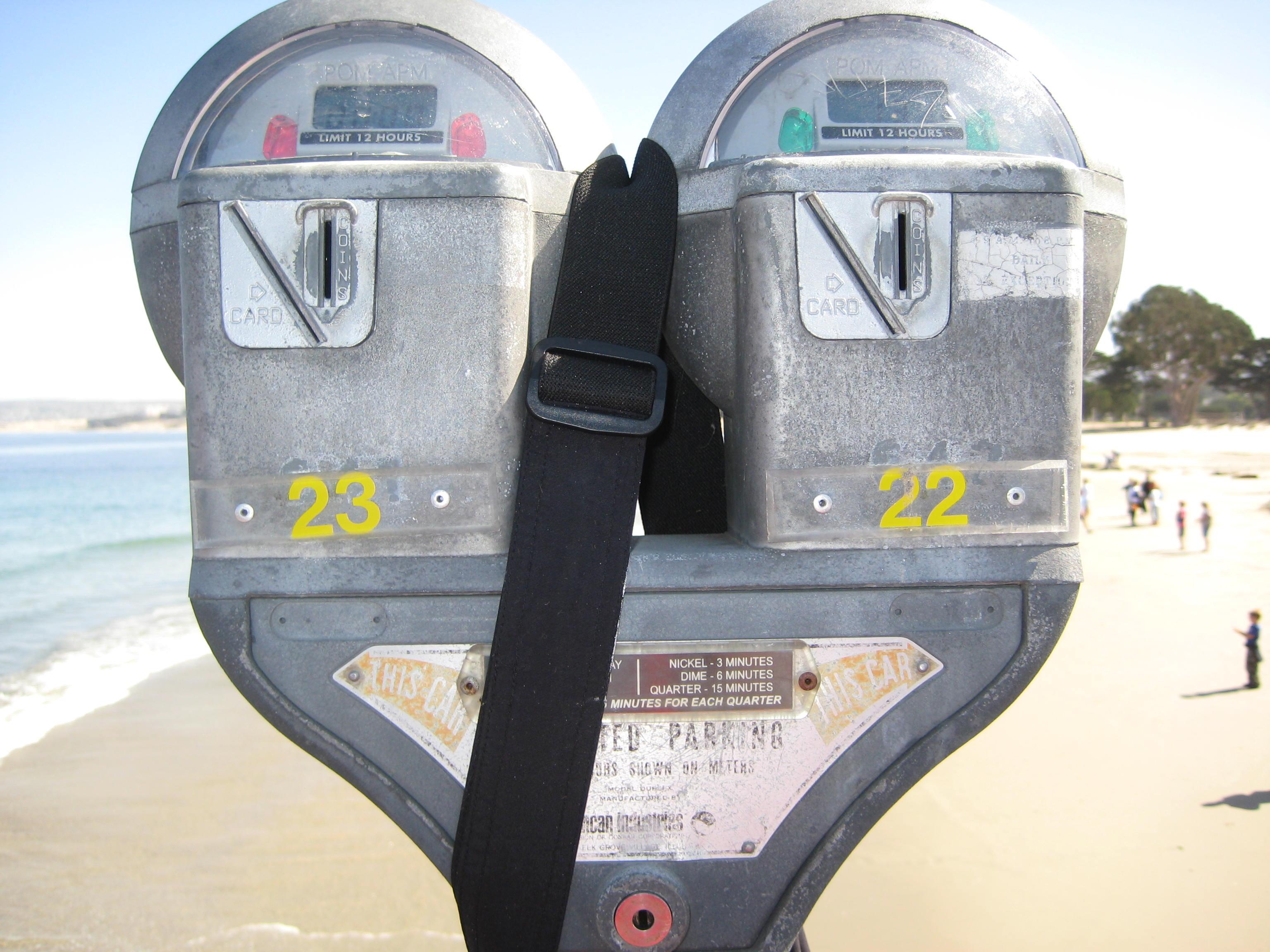 Parking Meter with a digital display
