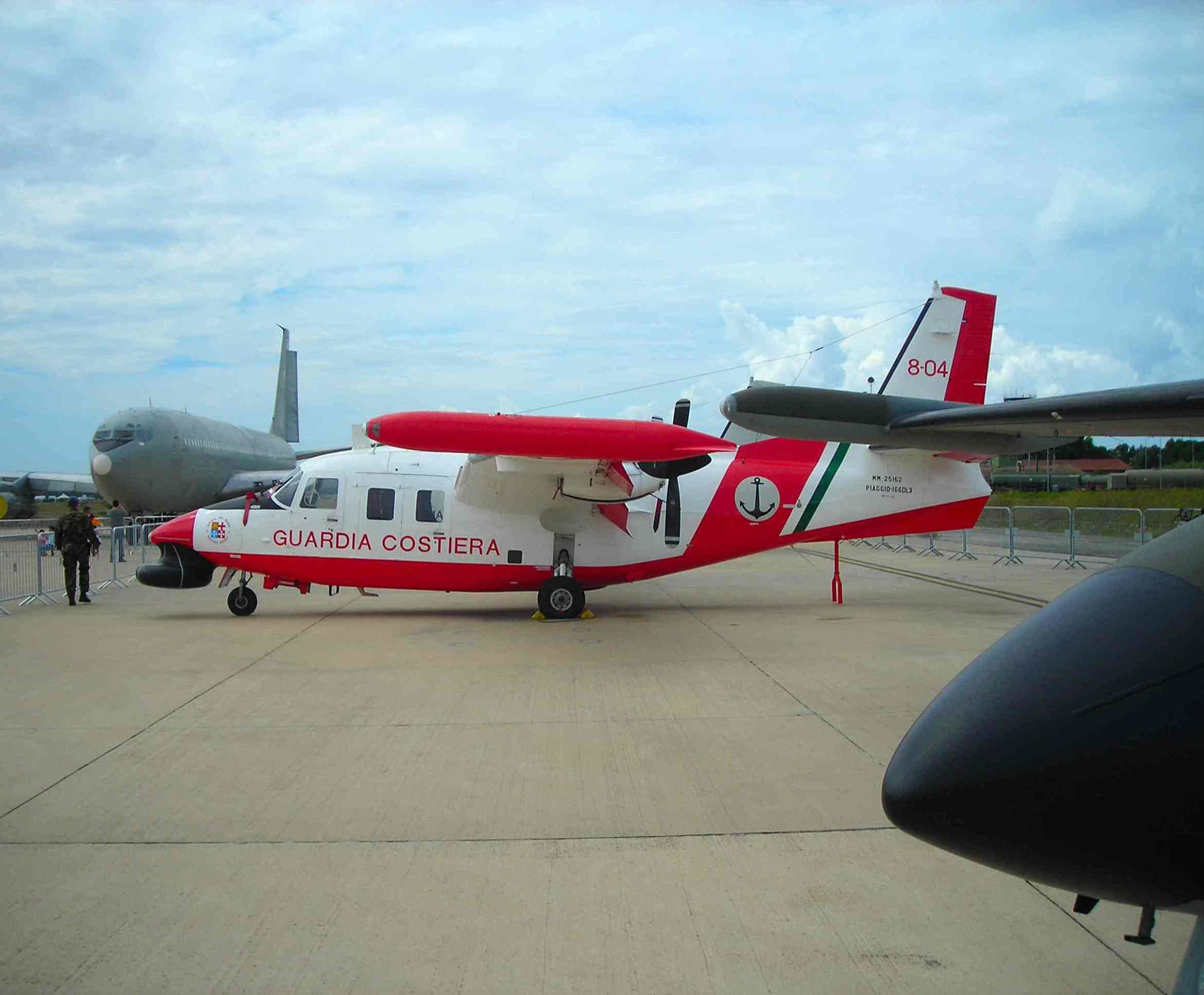Piaggio P.166 aircraft used by Italian Coast Guard.
