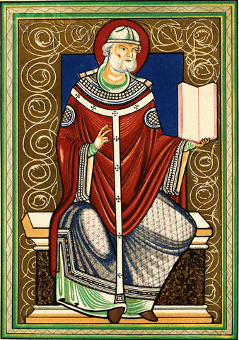 English: Gregory I became pope in 590 and effe...