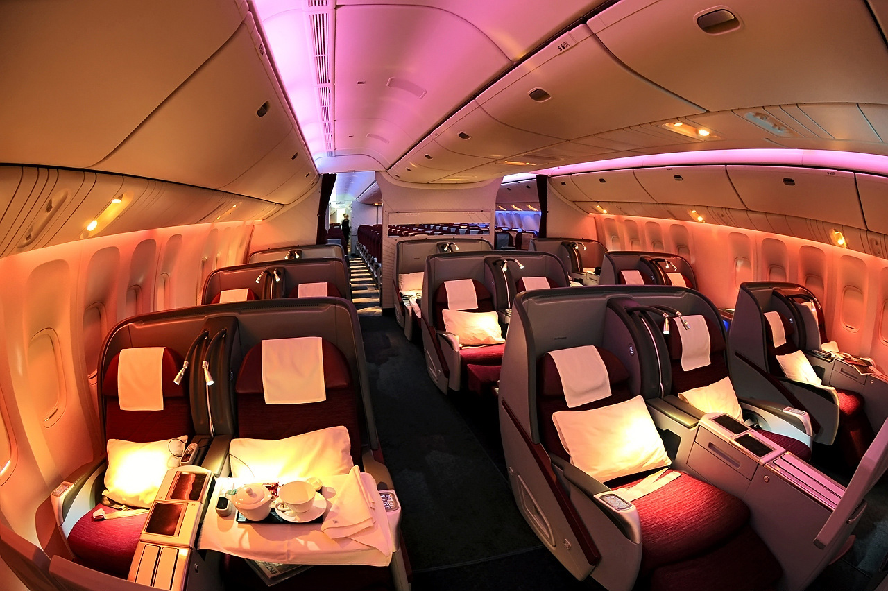 Image result for qatar airways business class