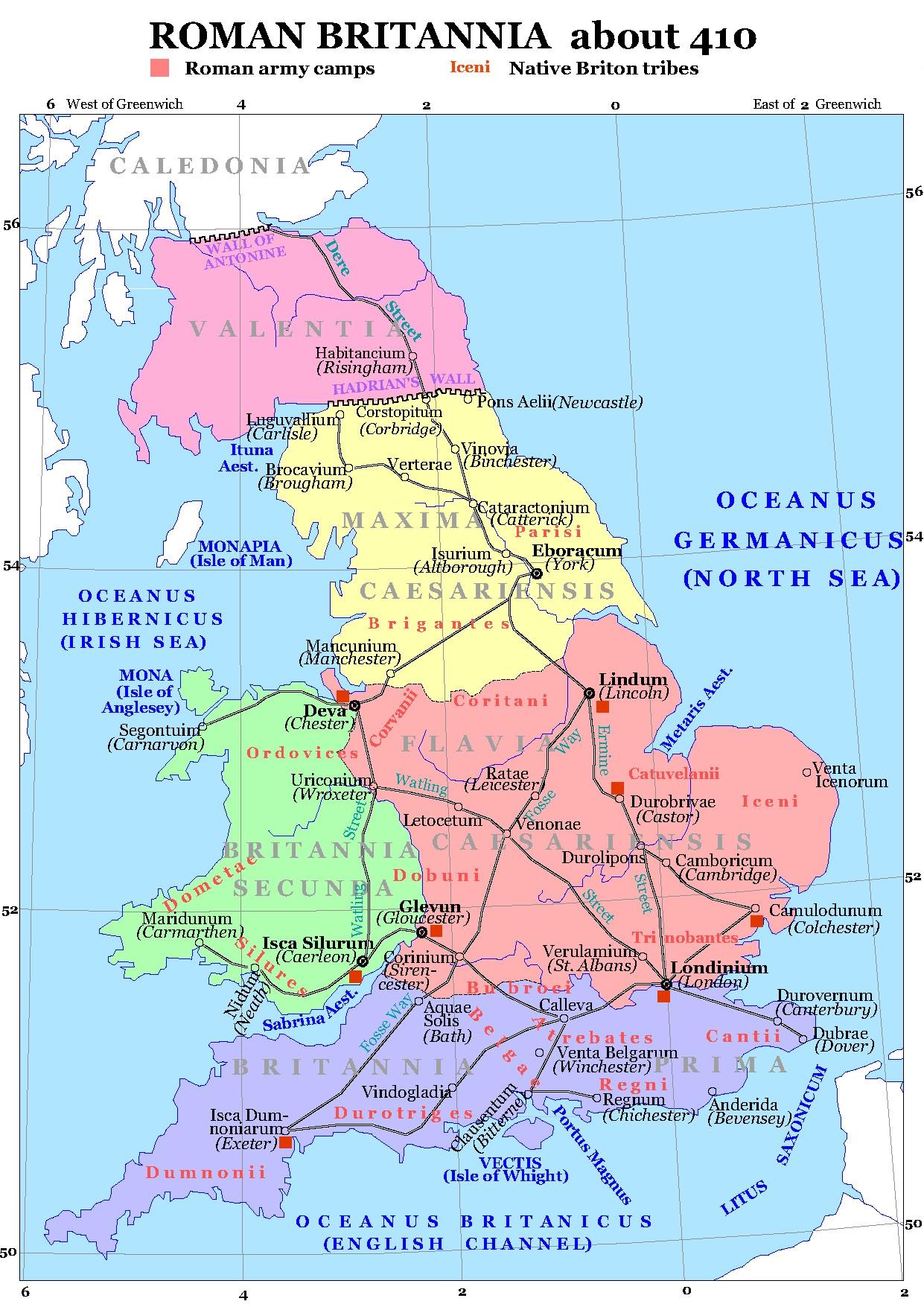 Los posibles usos del peñon de Gibraltar Roman_Britain_410
