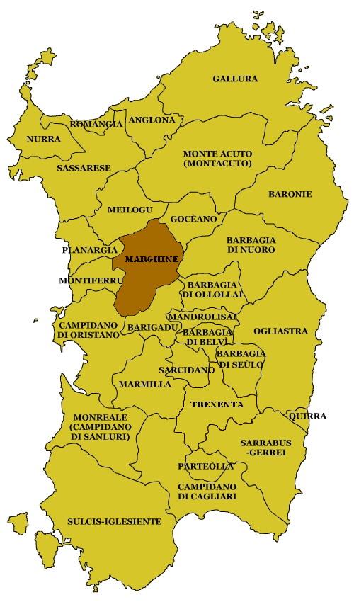 Cartina Sardegna Centro Ovest.Marghine Wikipedia