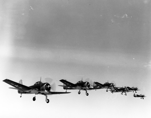 File:SC-1 Seahawk formation flight 27 April 1944, Ray Wagner Collection Photo (15469224733).jpg