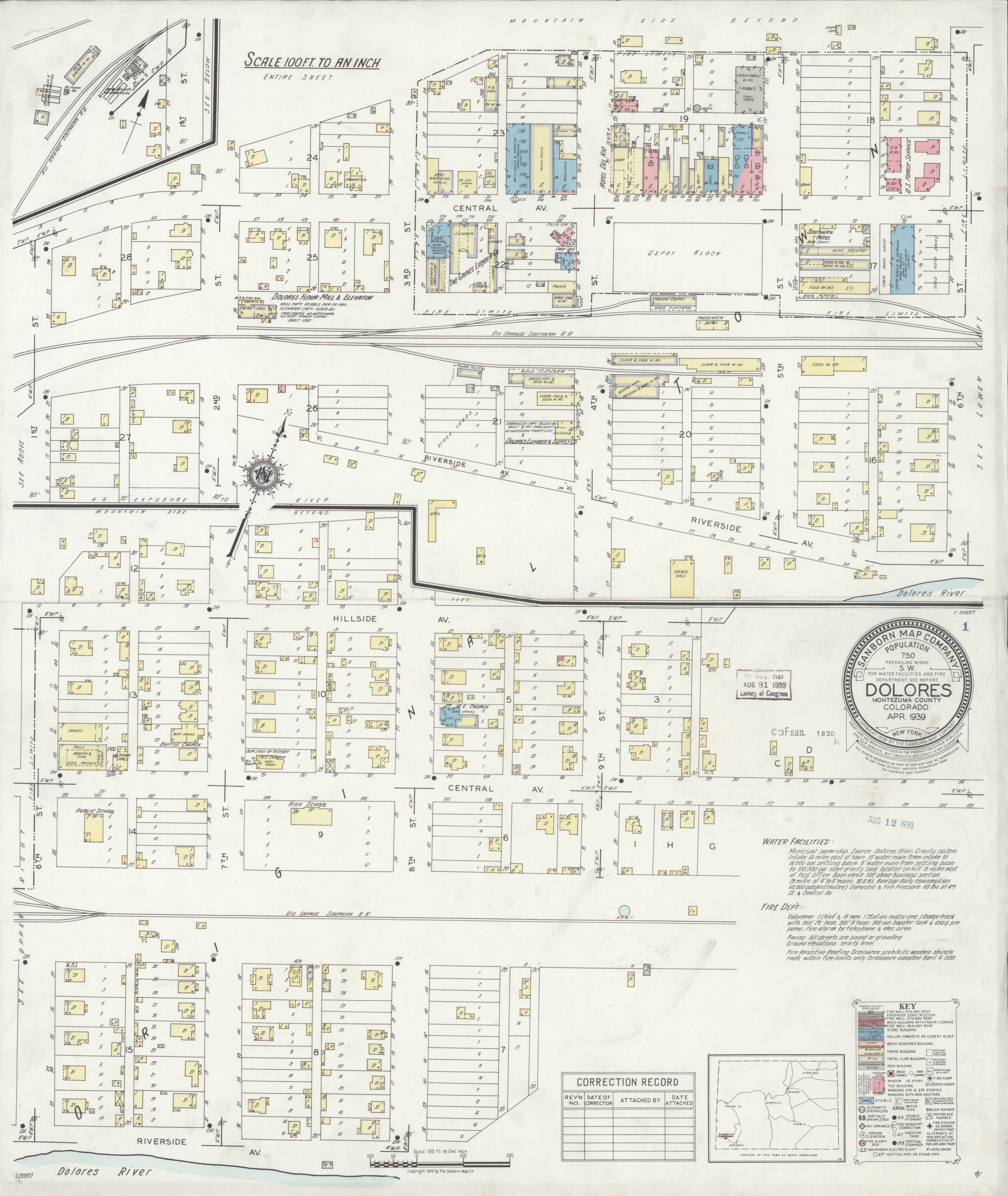 File Sanborn Fire Insurance Map From Dolores Montezuma County