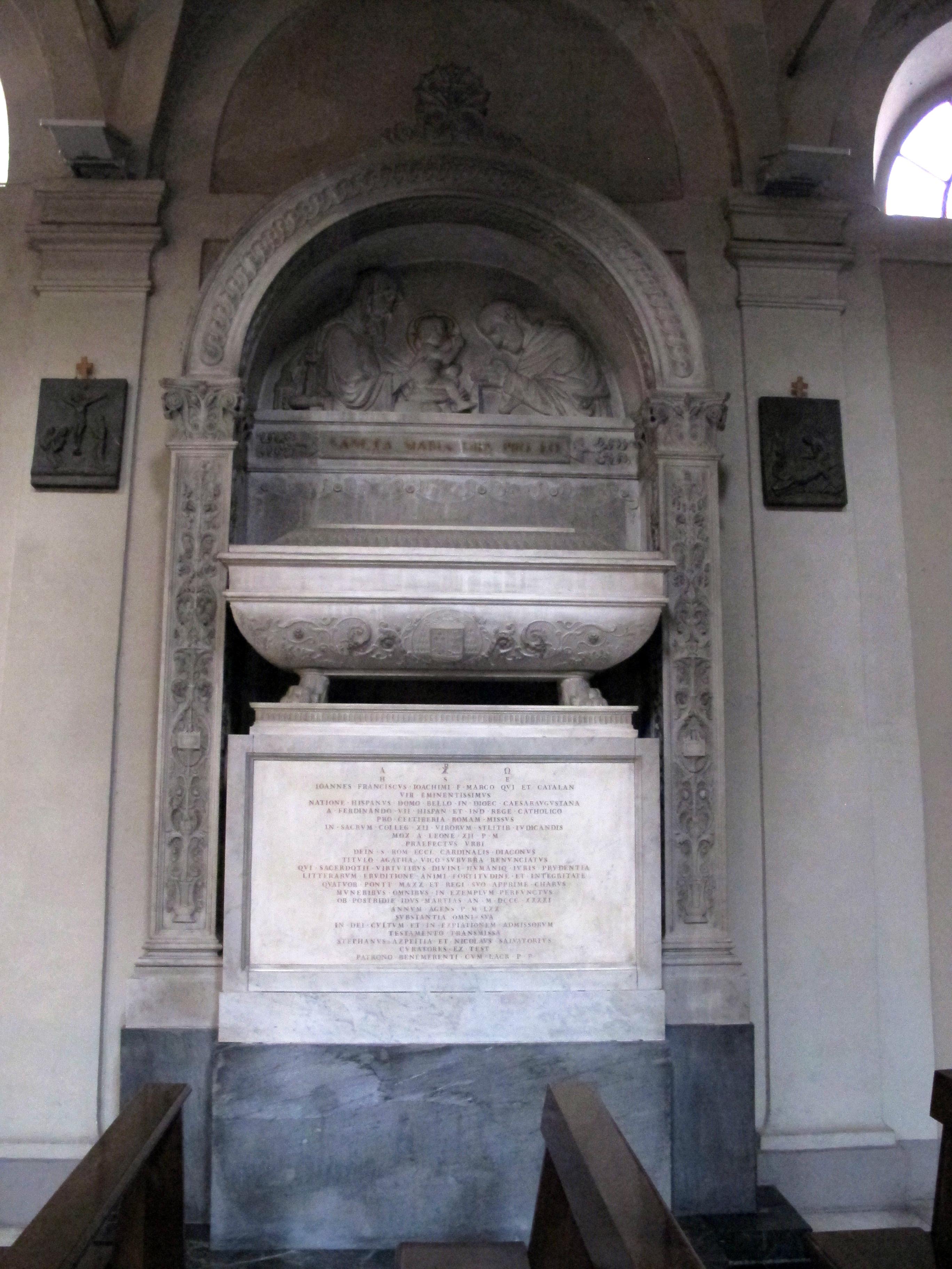 Archivo:Sant\'agata dei goti, monumento al cardinale giovanni ...