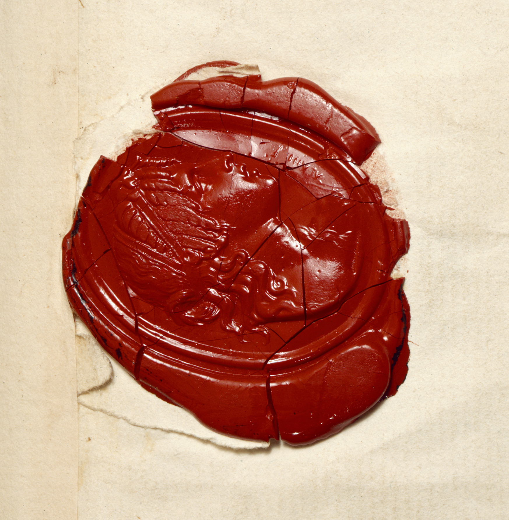file seal from letter of lord nelson  1801
