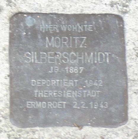 Segnitz Stolperstein Silberschmidt, Moritz.jpg