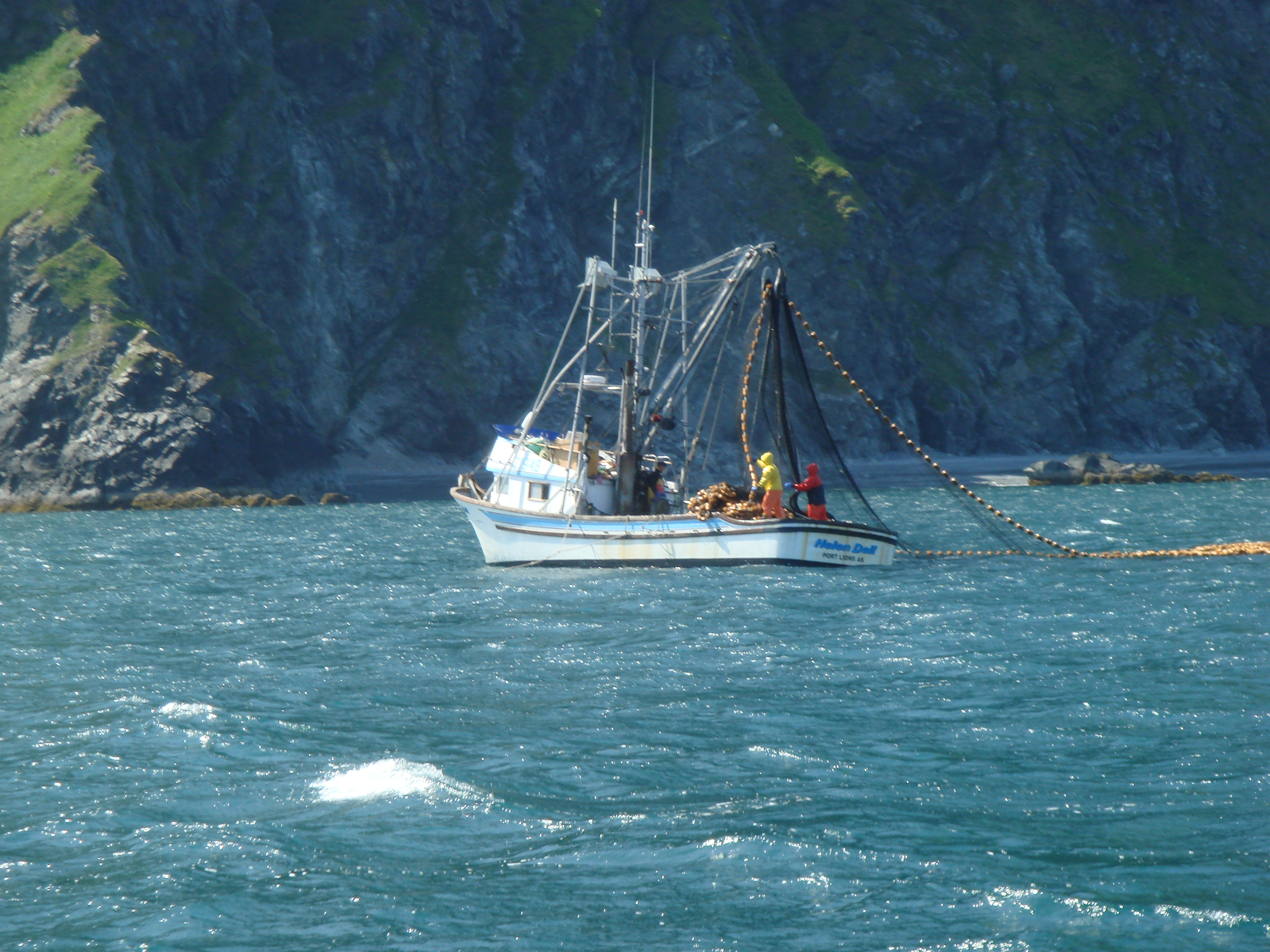 File seiner off the coast of the kodiak archipelago for Alaska salmon fishing